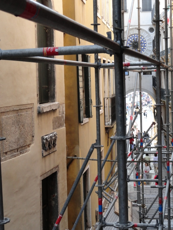 "Is this a ""beautiful view on a private typical Venetian courtyard""? But it does show how close we were to St Mark's Square."