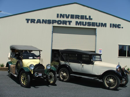Inverell Transport Museum is a must-visit attraction for historic car buffs.