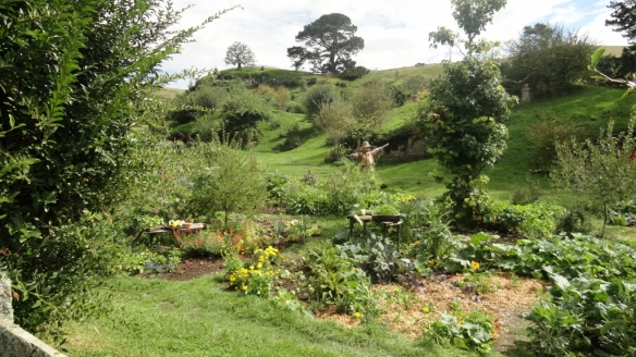 The Hobbiton gardens are have their own human gardeners to keep them in shape.