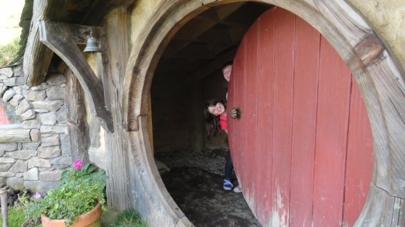 Behind the doors of a Hobbit's house
