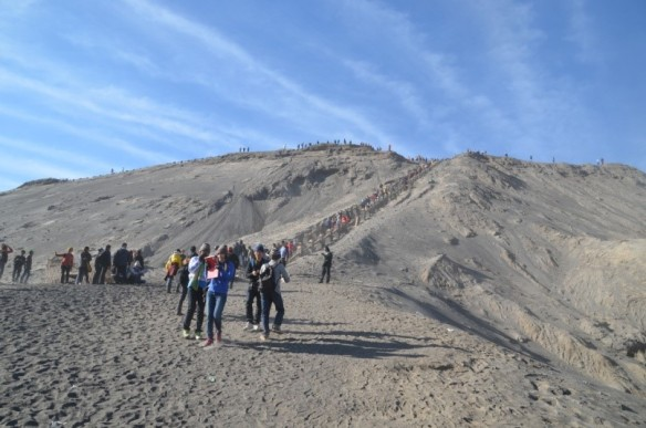Walking the rim of Mt Bromo