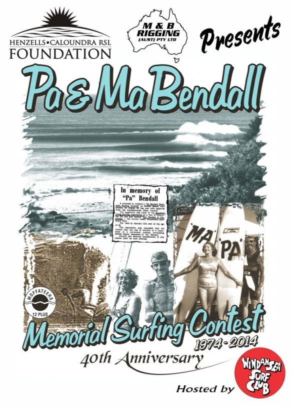 The 20th anniversary Pa and Ma Bendall Surf Classic