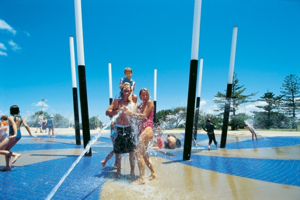 Playgrounds on the Sunshine Coast can be traditional ones - or fun water play parks. Great for cooling off.