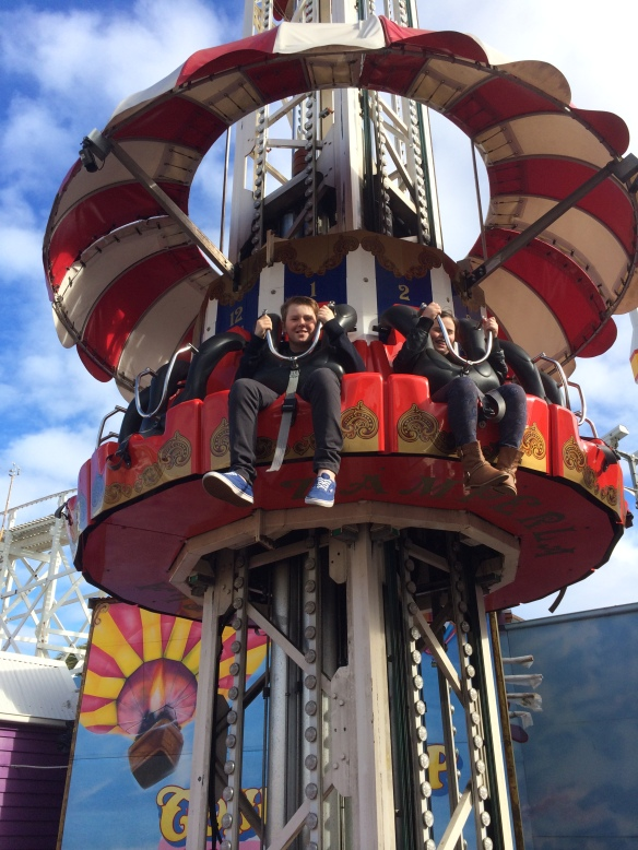 It might be a cold Melbourne winter's day at Luna Park - but that means less queues and more rides.