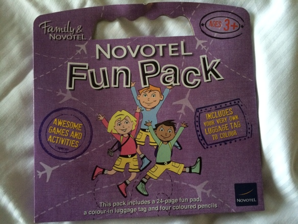 Kids receive a free toy or novelty pack when they stay as a Novotel guest.