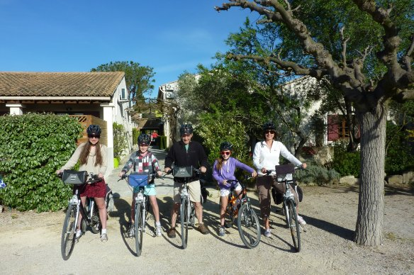 Philippa Shelley-Jones and her family on their Provence Backroads adventure.